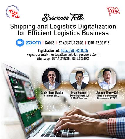 ALI dan SPIL Business Talk terkait digitalisasi dibidang logistik