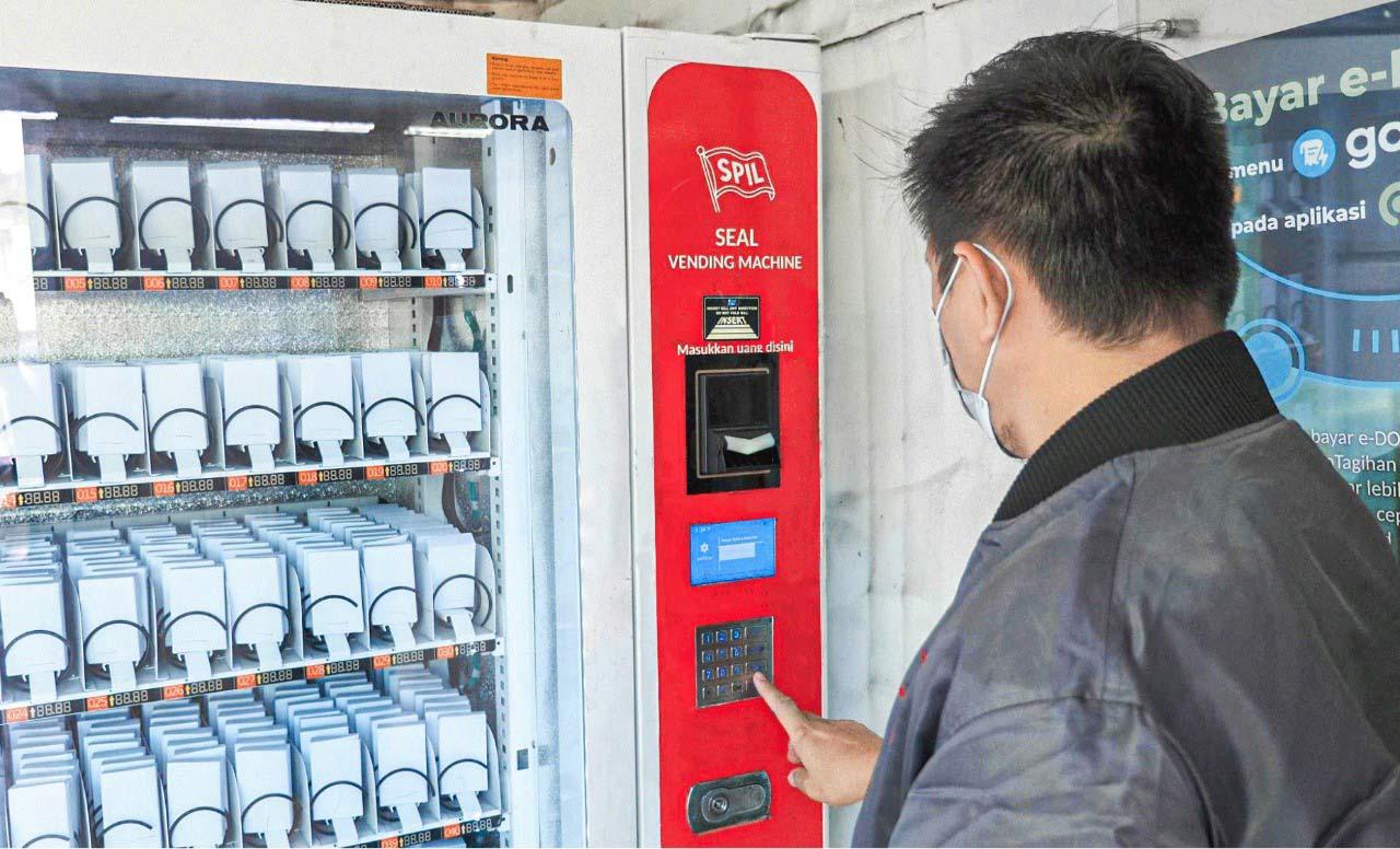 segel Vending Machine , Salam Pacific Indonesia Lines, Shiplog, Shipping, Logistik, Cargo, Ekspedisi, Kontainer, Freight